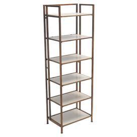etagere joss and featuring 6 white shelves and an iron frame this chic