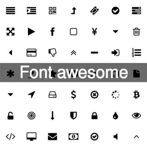 design icon font awesome 369 awesome font icons vector free download