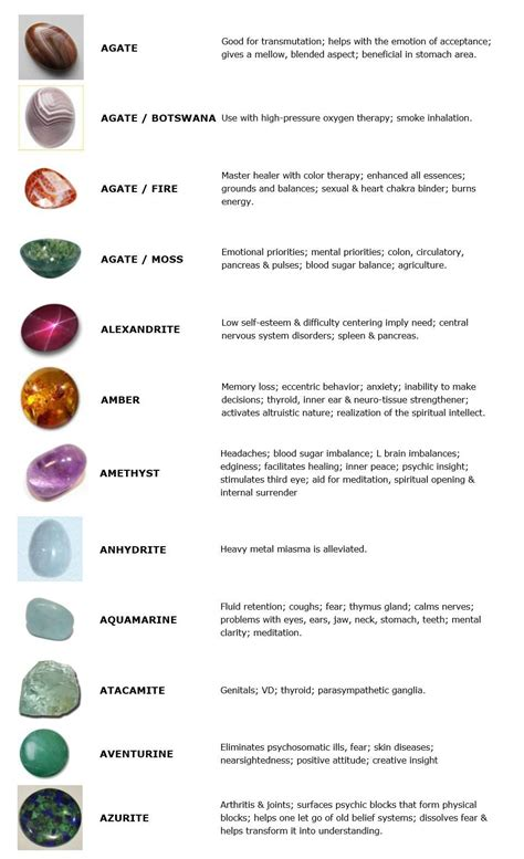 guide to crystals and gemstones for healing the open mind