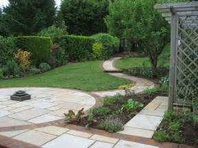 sloping garden design accent garden designs