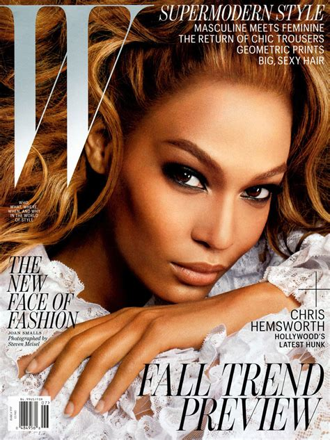To Be A Magazine Cover Model by Joan Smalls By Steven Meisel For W Magazine
