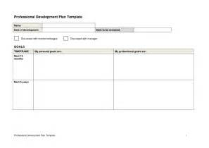 professional development plan template free best photos of professional development template sles