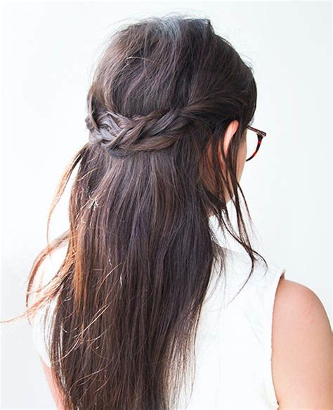 how to braid hair to hide it for a wig try this easy braid to hide your second day hair well good