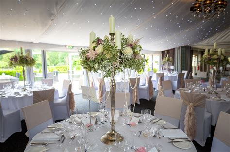 Tall Gold Vases Candelabra Centrepieces Hogarths Hotel Passion For Flowers