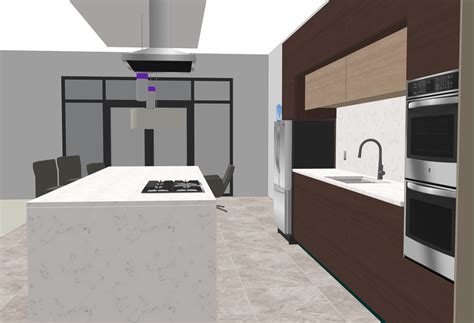 interior modern kitchen   model usa architectural