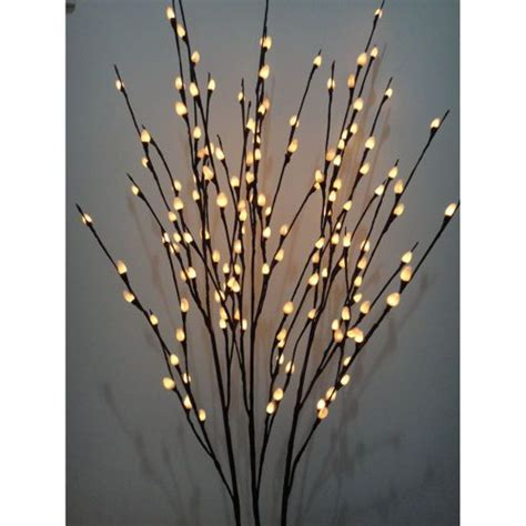 lighted pussy willow branches homebody pinterest