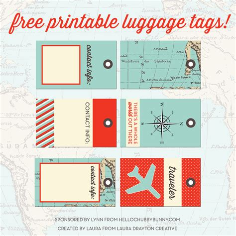 free printable designer luggage tags and your chance to