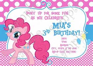 my little pony birthday invitation my little pony thank