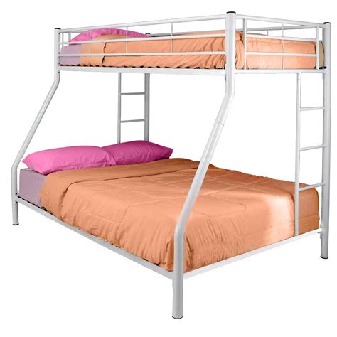 White Metal Twin Over Full Bunk Bed Affordable Beds Com White Metal Bunk Bed