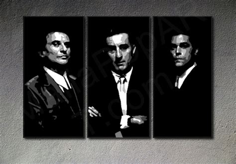 goodfellas painting goofellas pop on canvas with robert de niro