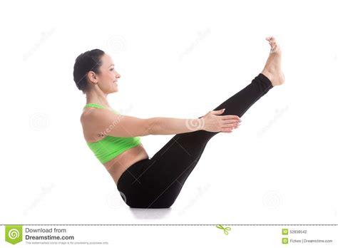 boat pose exercise video navasana yoga pose stock photo image 52838542