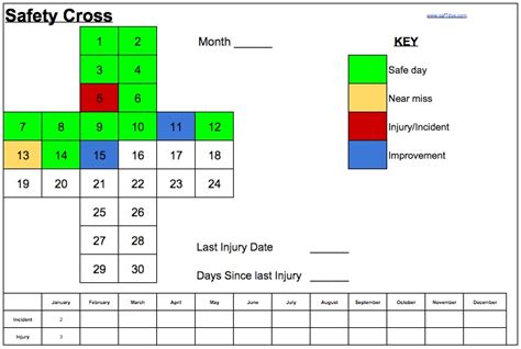 safety calendar template about pre engineering manufacturing technology