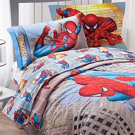 marvel bedding twin buy marvel 174 spider man twin sheet set from bed bath beyond