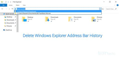 Explorer Address Bar Search How To Delete Windows Explorer Address Bar History