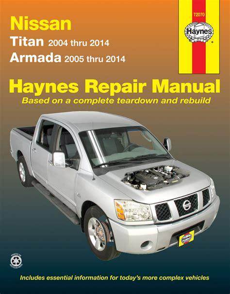 electric power steering 2010 nissan armada security system nissan titan armada haynes repair manual 2004 2014 hay72070