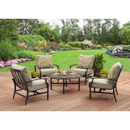 better homes and gardens trellis juniper better homes and gardens rockwood trellis back 5pc conversation set walmart