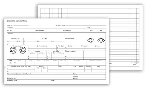 Medical Office Supplies Eye Form Template