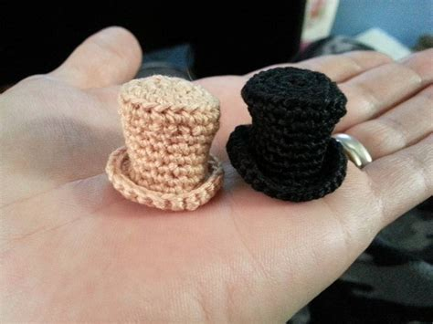 how to knit a small hat crochet mini top hat