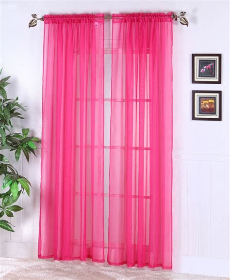 Sheer Pink Curtains Sheer Abby Curtain Colors