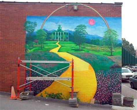 wizard of oz wall murals wizard of oz mural burnsville nc murals on waymarking