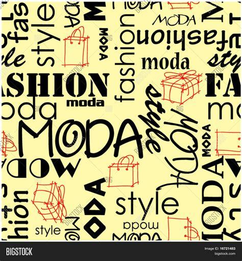 words pattern background art vintage word pattern moda vector photo bigstock
