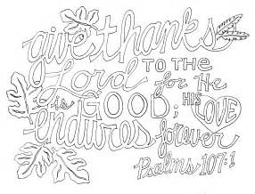 Coloring Pages A Psalm Of Thanksgiving Psalm 107 1 Fromvictoryroad Com Christian Inspiration