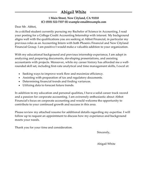 Cover Letter For Nbc Internship internship cover letter