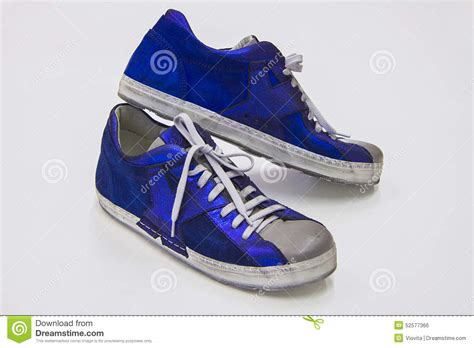 boots running time blue sport cross boots stock photo image 52577366