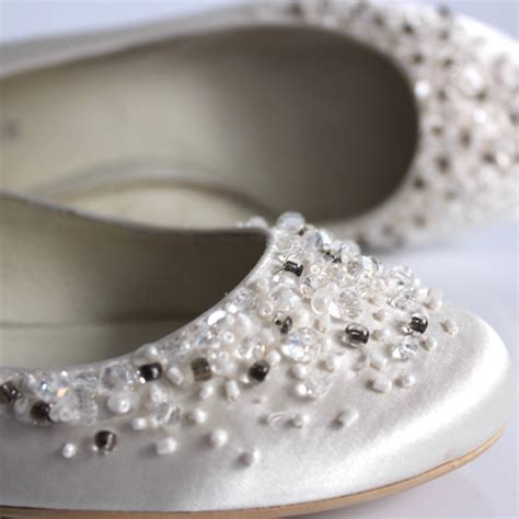 Hochzeitsschuhe Mit Perlen by Menbur Ballerina Brautschuhe Ivory Acryl Perlen Pailletten