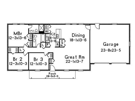 Basic Ranch House Plans by Simple Ranch Style House Plans New Ranch House Floor Plans