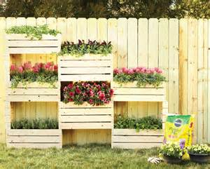 vertical planter diy home depot garden project