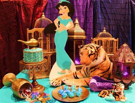 jasmine themed birthday party jasmine birthday cake table disney aladdin party ideas