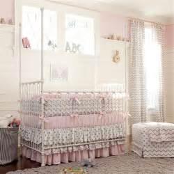 chevron crib bedding pink and gray chevron crib bedding carousel designs