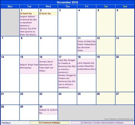printable house of commons calendar november 2016 eu calendar with holidays for printing