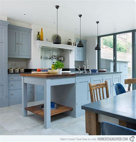 What Color Walls With Gray Cabinets by 16 Nicely Painted Kitchen Cabinets Home Design Lover