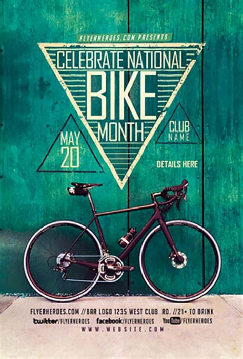 Bike Month Free Psd Flyer Template Stockpsd Bike Flyer Template Free