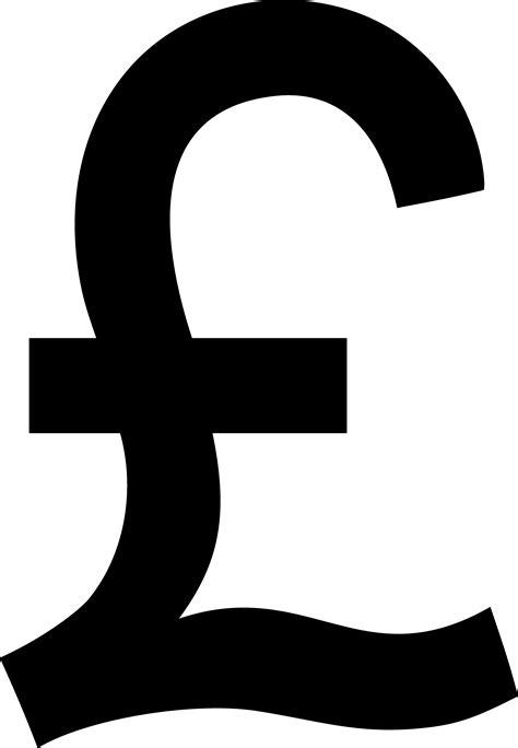 Black Pound Sterling Symbol - Free Clip Art