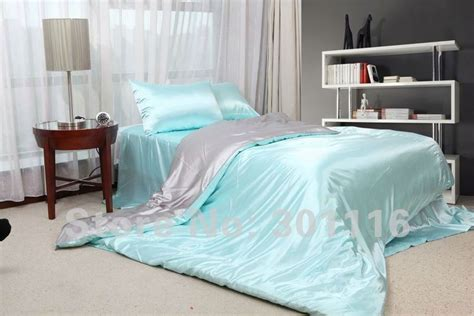 summer bed sheets fashion summer bedding 100 cool blue imitated silk bed