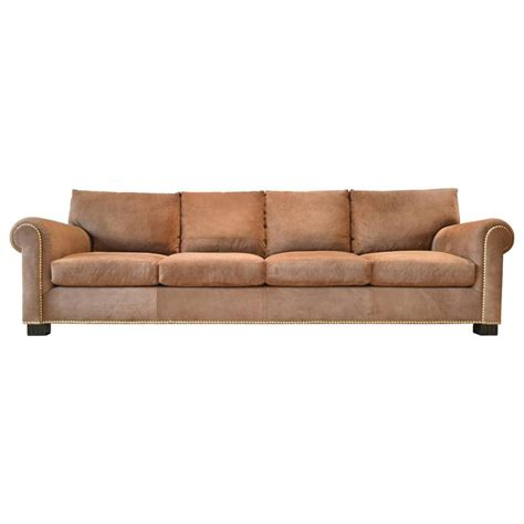 lauren sofa suede rolled arm sofa by ralph lauren at 1stdibs