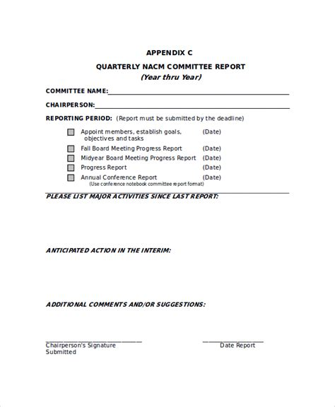 board report template sle committee report template 8 free documents