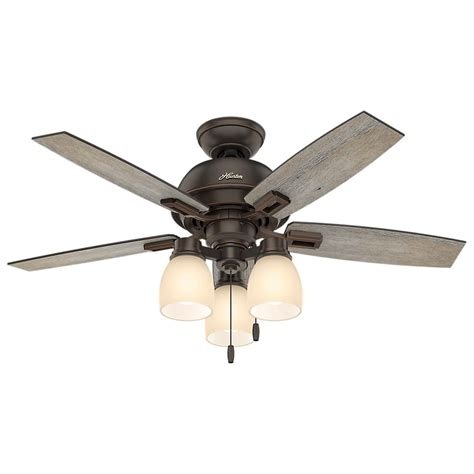 Indoor Ceiling Fan With Light Donegan 44 In Led 3 Light Indoor Onyx Bengal Bronze Ceiling Fan 52228 The Home Depot