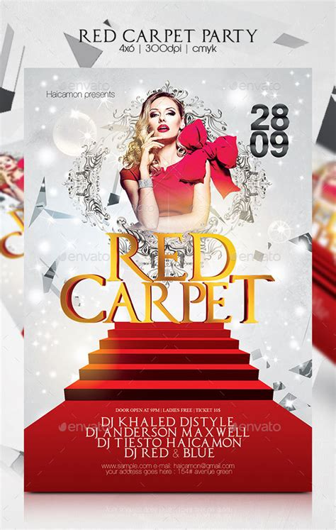 flyer template red red carpet party flyer template psd buy and download