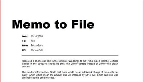 How To Write A Memo To File Bizfluent Note To File Template Personnel File