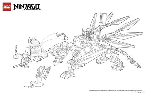 ninjago mech coloring pages dragon ninja attack enemy lego coloring pages printable