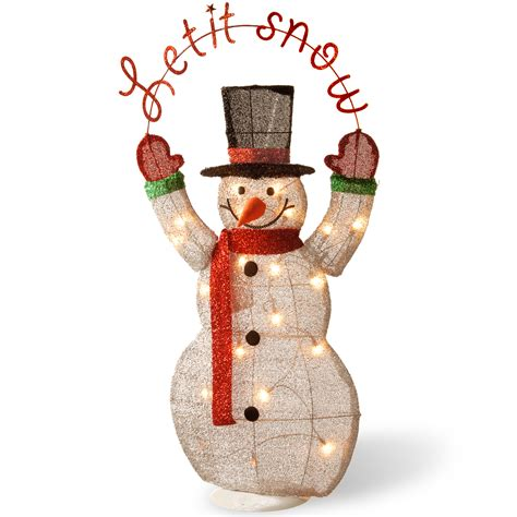 outdoor lighted decoration lighted snowman outdoor indoor decoration yard