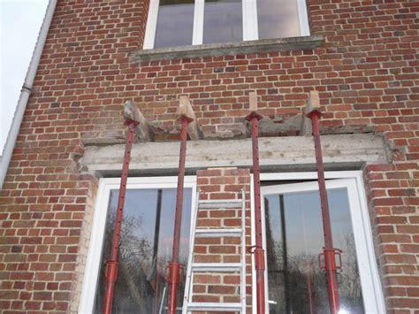 linteau pour baie vitr 233 e dans mur briques r 233 novation