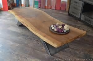 table basse plateau noyer acier micheli design