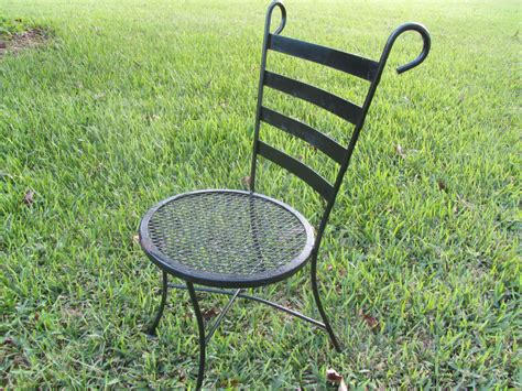 Iron Bistro Chairs Vintage Bistro Chair Wrought Iron Chair Retro Chair Metal