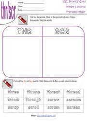 Thr Worksheets by Printable Tri Graph Worksheets Three Letter Blend