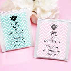 Tea Bag Favors by Keep Calm Chevron Personalized Tea Bag Favor Tea Time